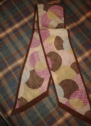 Шелковый узкий шарфик accessorize