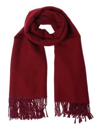 Шикарный винный теплый шарф monki