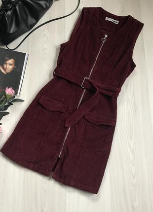 Стильный вельветовый сарафан платье topshop размер м