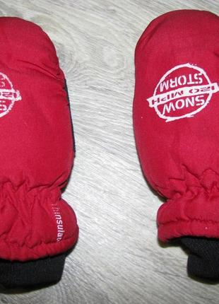 Перчатки варежки 5-6 лет рукавицы краги детские