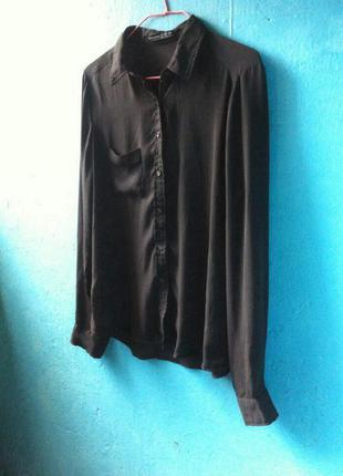 Идеальная черная шифоновая блуза atm
