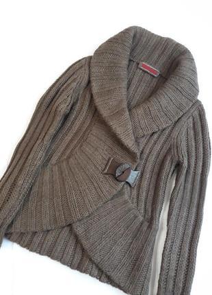 Luisa cerano люкс дизайнерский#необычный#шерстяной#теплый кардиган#кофта шерсть#альпака.