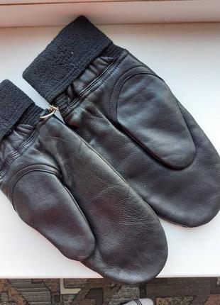 Перчатки кожаные мужские италия