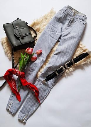 Стильні джинси скіні у полоску від stradivarius