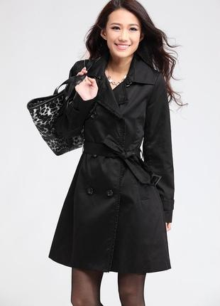 Шикарный винтажный плащ пальто тренч на пуговицах