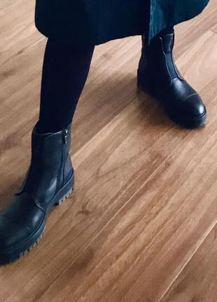 Зимние кожаные ботинки antonio biaggi