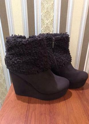 Тёплые зимние ботинки как новые р. 40