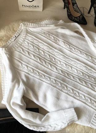 Нереально красивый нежный свитер - блуза с косичками и открытыми плечами на р. л/хл ...👠🍓💋