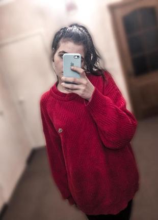 Тёплый вязанный свитер-туника lacoste. 100% оригинал