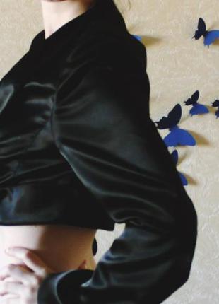 Болеро атласное черное
