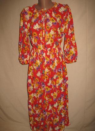Вискозное платье спенсе р-р8.