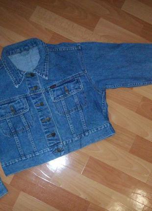 Короткий джинсовый пиджак, жакет, размер 46-48