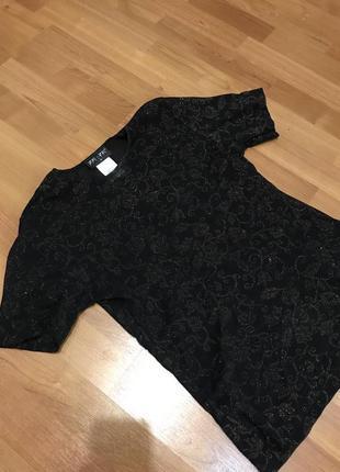 Нарядная  блуза сеточка с блёстками