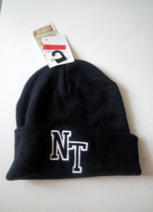 56-58 р трендовая теплая двойная шапка c&a