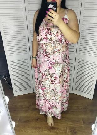 Красивое длинное платье р .22