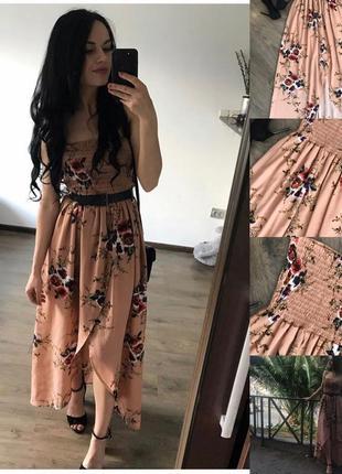 Плаття на груди в квіти