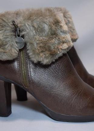Ботинки geox d inspiration ботильоны зимние женские каблук ориг 38/25