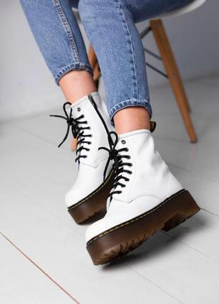 Ботинки dr. martens jadon white (демисез.)