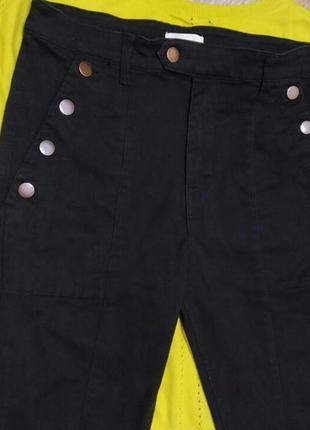 Крытые джинсы на высокой посадке