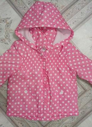Весенняя теплая куртка фирмы dunnes 9-12мес