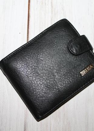 Вместительный кожаный кошелек 100% натуральная кожа