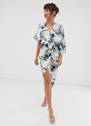 Asos сатинова сукня-кімоно