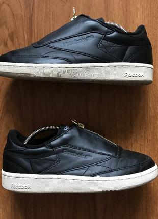 Жіночі шкіряні кросівки (женские кожаные кроссовки) reebok club c85 zip