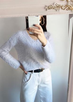 Пушистый пыльно- сиреневый свитер atmosphere