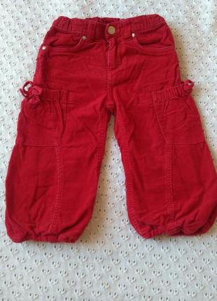 Штани утеплені вельветові штаники утеплённые штаны штанишки