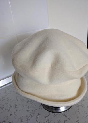 Шляпа светлая шерсть