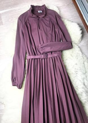 Макси платье с юбкой плиссе c&a