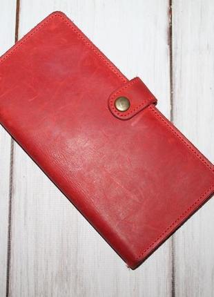 Кожаный кошелек 100% натуральная кожа ручная работа
