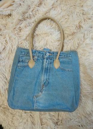 Летняя джинсовая стильная сумка !