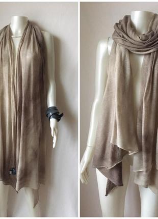 Итальянский трикотажный шарф из мериносовой шерсти с лёгким неравномерным градиентом
