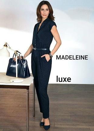 Madeleine m/38 элегантный брючный комбинезон в полоску от люксового датского бренда