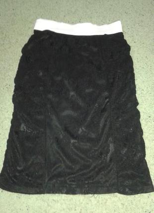 Гламурная гирюровая юбка tally weijl, размер s/36.