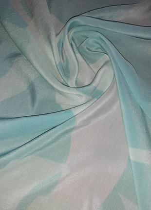 Нежный шелковый платок 100% шелк louis widmer швейцария /77*82 см