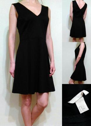 Черное базовое платье - трикотаж средней плотности