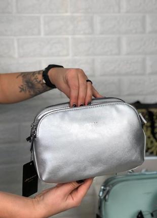 Клатч еко кожа есть цвета через плечо длинный ремешок сумка крос боди