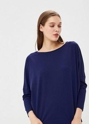 Темно-синий  лонгслив свободного кроя под джинсы размер 4хl-5хl