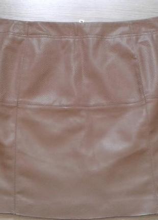Фирменная юбка из мягусенькой эко-кожи р. 16-18