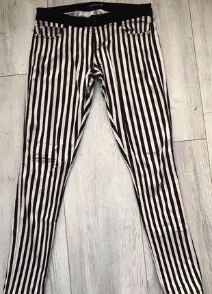 Стильные итальянские штаны, штанишки, брюки в полоску