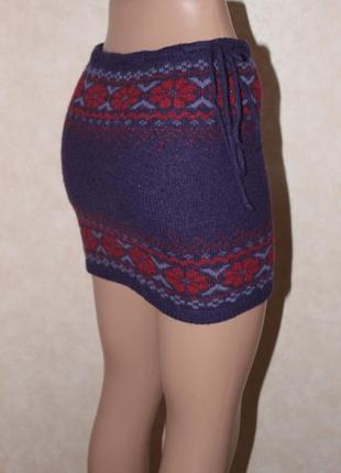 Теплейшая шерстяная юбочка со скандинавским принтом