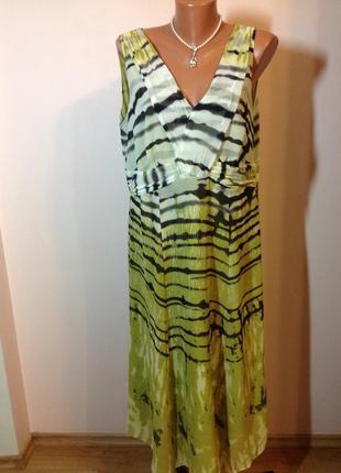 Елегантное миди платье большого размера/20/ brend marks& spencer