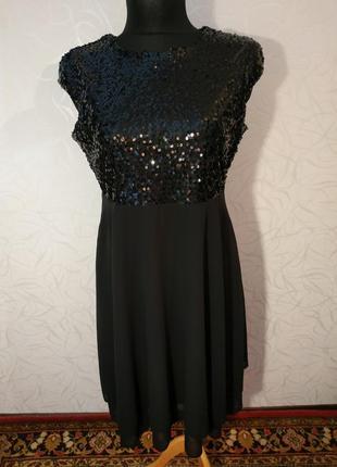 Шикарное платье с паетками1 фото