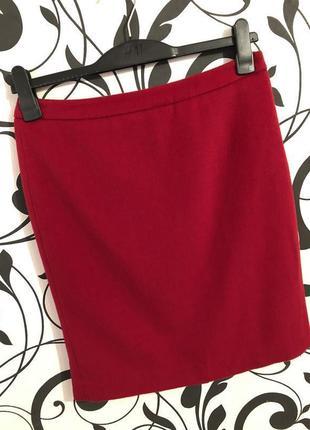 Нереально крутая роскошная и супер тепленькая шерстяная красная юбка миди ...💄👠💋