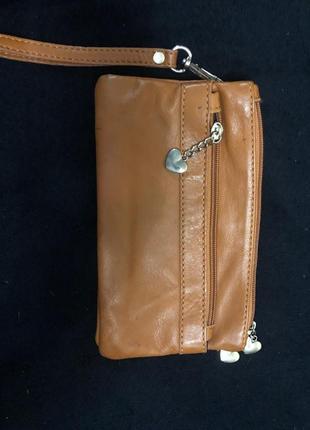 Кошелёк портмоне бумажник натуральная кожа клатч la borsa италия