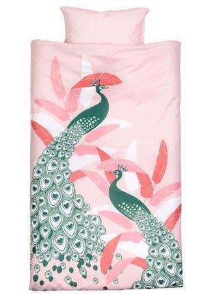 Постельное белье комплект односпальный хлопок бренд h&m швеция