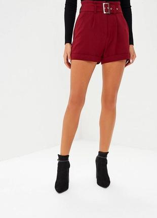 Новые стильные шорты с поясом и высокой посадкой lost ink размер xs