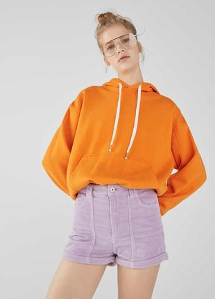 Трендові вельветові шорти bershka лілового кольору з високою посадкою ❤